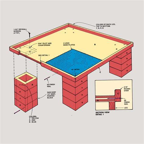 Lego-Table-Construction-Plans