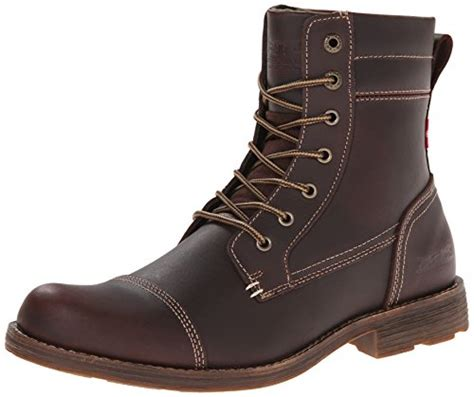 Levis Men's Lex II Chukka Boot, Dark Brown, 9 M US