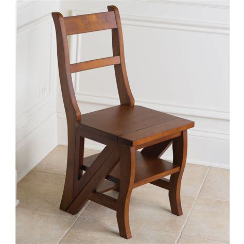 Library Chair Step Stool Ladder With Seat