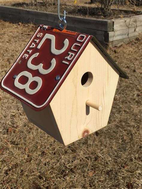 License Plate Bird House Patterns
