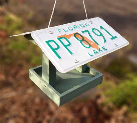 License-Plate-Bird-Feeder-Plans