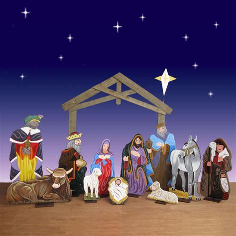 Life-Size-Wooden-Nativity-Sets