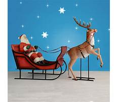 Best Life size santa sleigh and reindeer