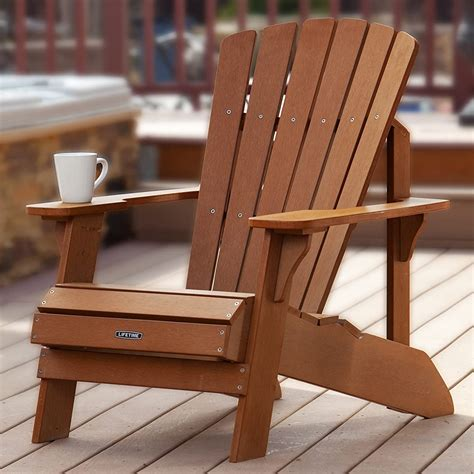 Lifetime-Faux-Wood-Adirondack-Chairs