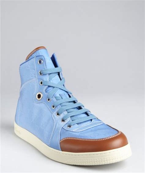 Light Blue Gucci Sneakers