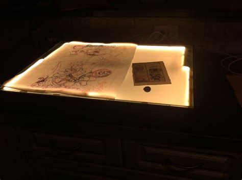 Light Tracing Table Diy Pipe