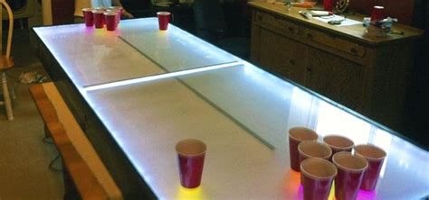 Light Up Beer Pong Table Diy