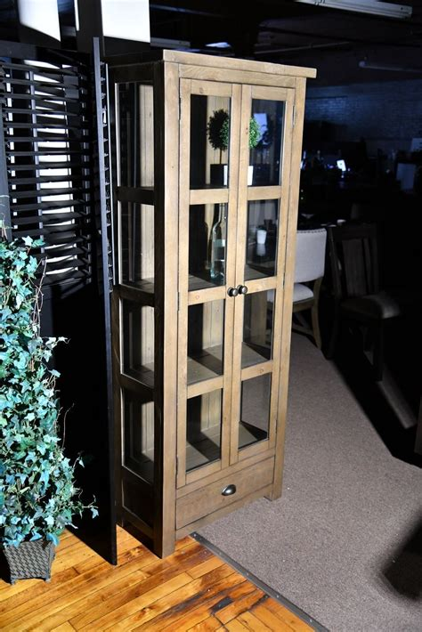 Light Wood Curio Cabinet