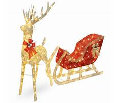 Best Lighted sleigh yard decoration