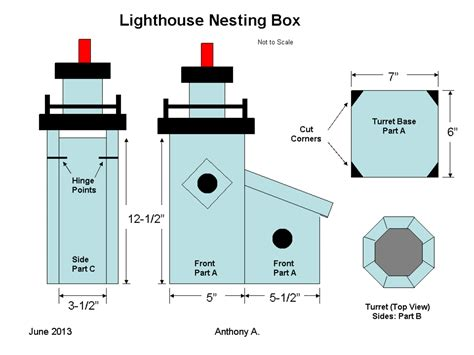 Lighthouse Birdhouse Plans Cardinals
