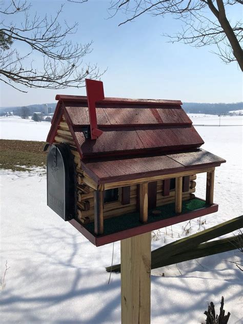 Lighthouse Log Cabin Mailbox Woodworking Plans