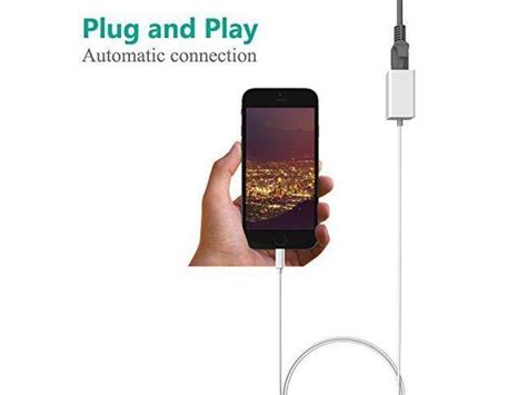 Lightning to RJ45 Ethernet Wired Network Adapter for iPhone iPad, Plug and Play, No APP Required