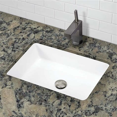 Lilli Classically Redefined Ceramic Rectangular Undermount Bathroom Sink With Overflow