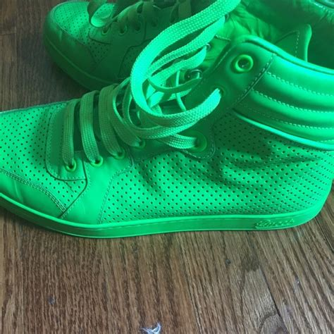 Lime Green Gucci Sneakers