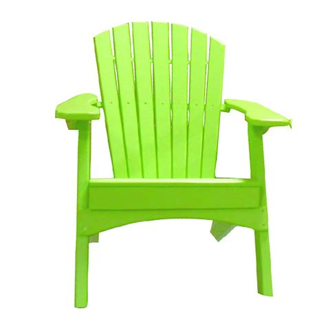 Lime-Green-Plastic-Adirondack-Chair