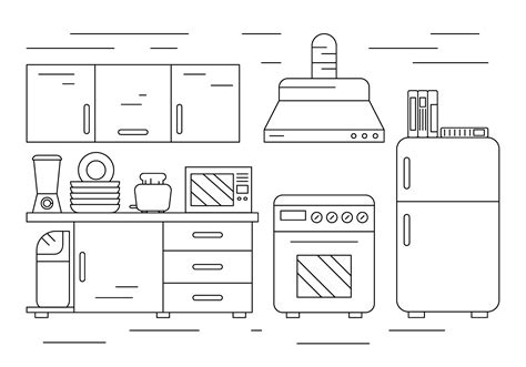 Line Drawings Of European Cabinets Pictures