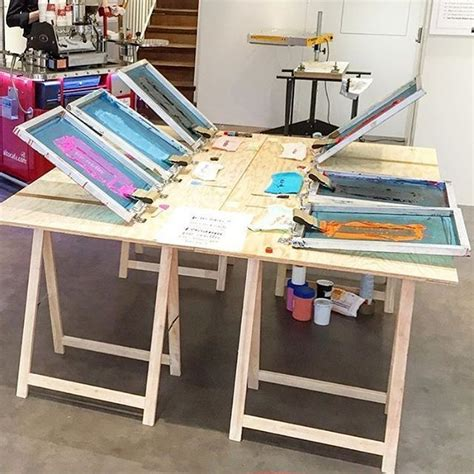Line Table Screen Printing Diy Setup
