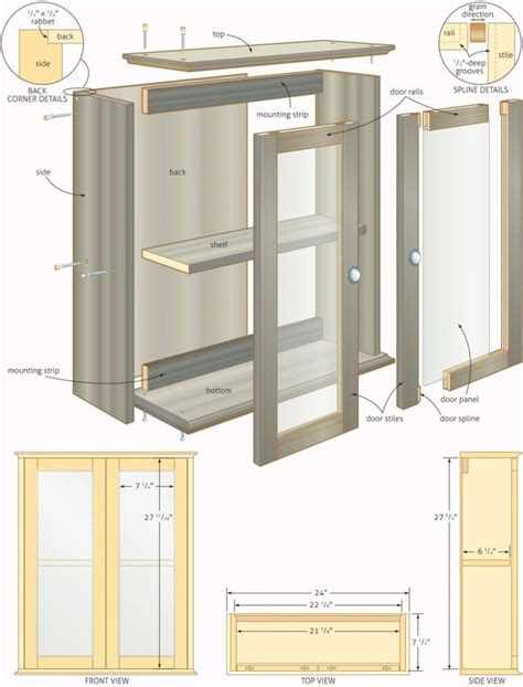 Linen Cabinet Woodworking Plans