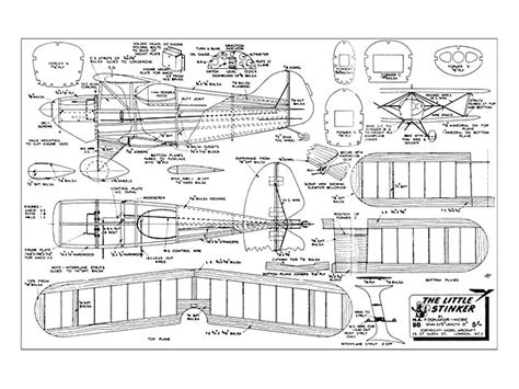 Little Stinker Biplane Scale Model Plans