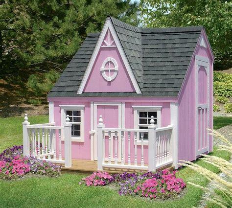 Little-Girl-Outdoor-Playhouse-Plans