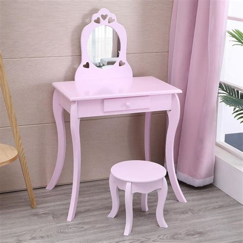 Little-Girls-Vanity-Table-And-Chair