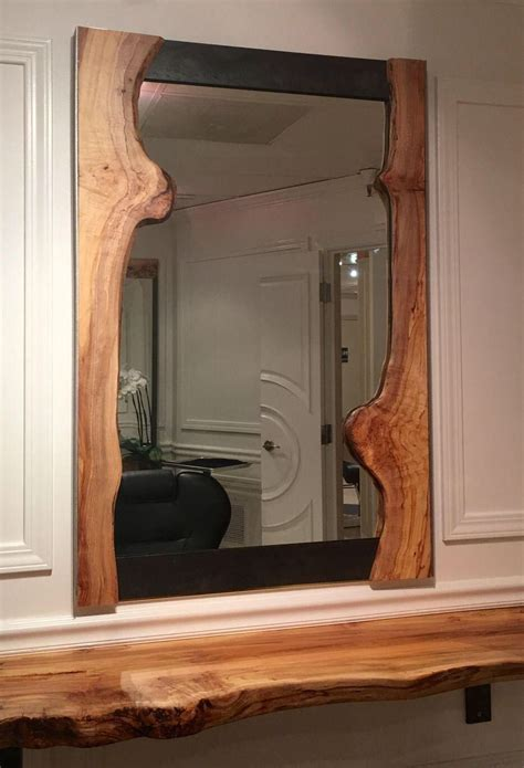 Live Edge Wood Mirror Diy With Cardboard
