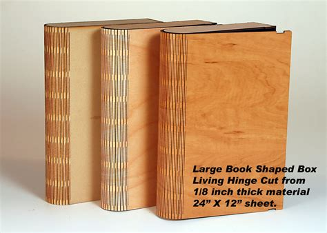 Living Hinge Book Box Plans