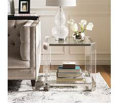 Best Living room with lucite end tables