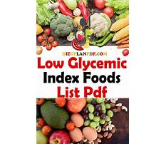 Best Llow gkycemic index diet