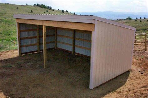 Loafing Shed Plans 8x12