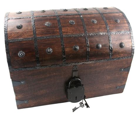 Locking Wooden Pirate Chests