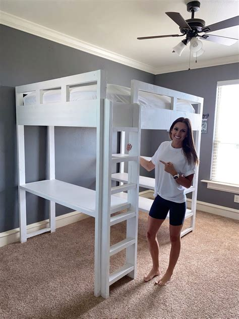 Loft Bed Plans With Bench Diy