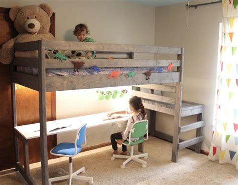 Loft Bed With Desk Plans Diy Tool