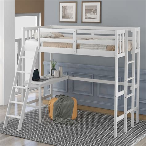 Loft Bed With Desk Plans Double