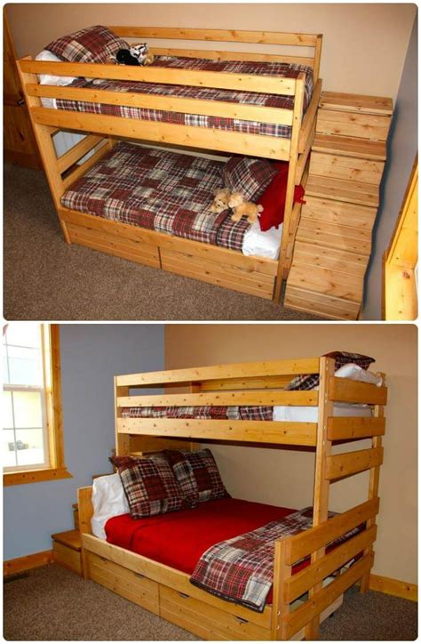 Loft Bed Wood Diy Santa Pallet