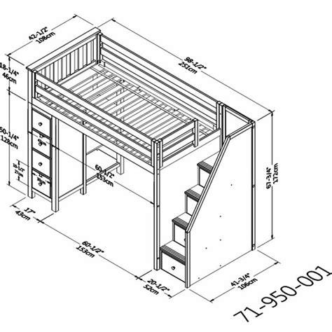 Loft-Bed-With-Shelves-Plans