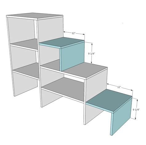 Loft-Bed-With-Stairs-Woodworking-Plans