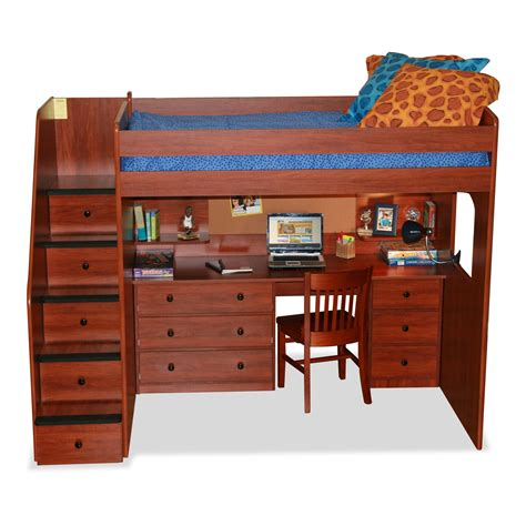Loft-Bed-With-Storage-Stairs-And-Desk-Plans