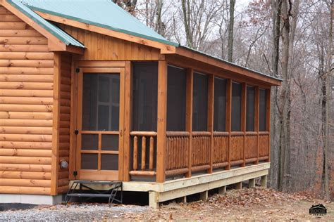 Log Cabin Plans With Screened Porch