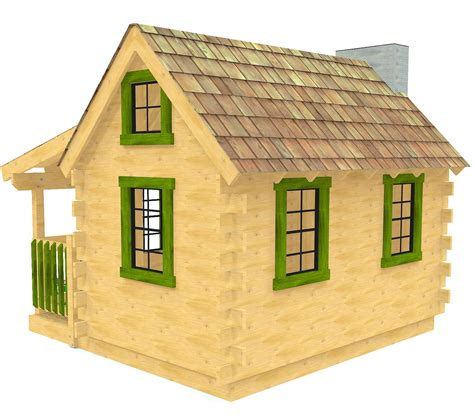 Log Cabin Playhouse Plans