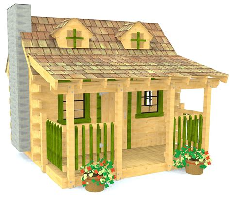 Log Cabin Playhouse Plans Free