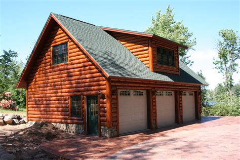 Log Cabin With Garage Plans