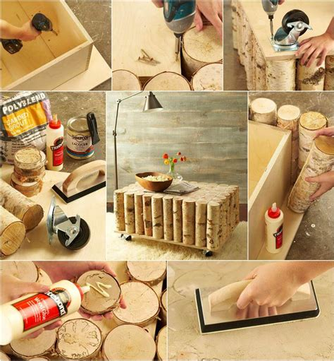 Log Coffee Table Diy Plans