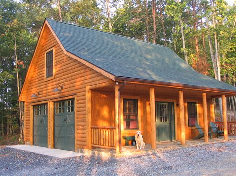 Log Garages With Apartment Plans
