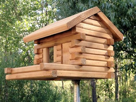 Log House Bird Feeder Plans