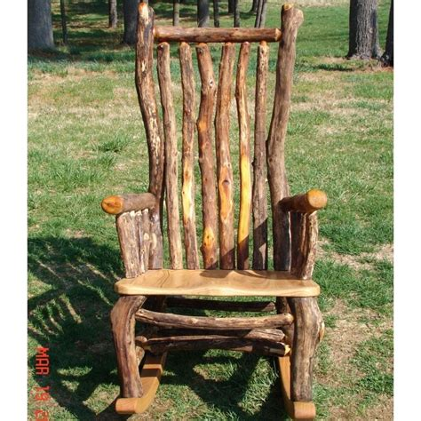 Log Rocking Chair Blueprints