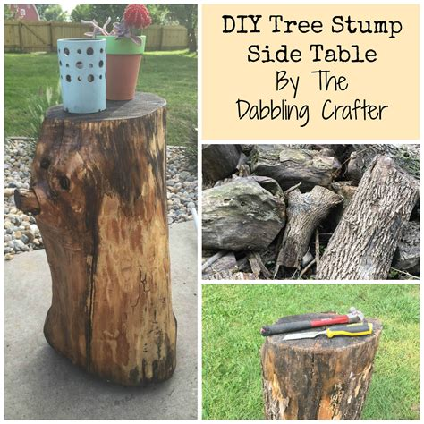 Log Stump Table Diy Hardware