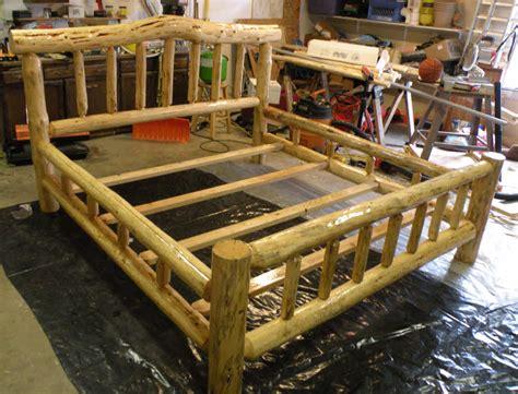 Log-Bed-Frame-Plans-Free