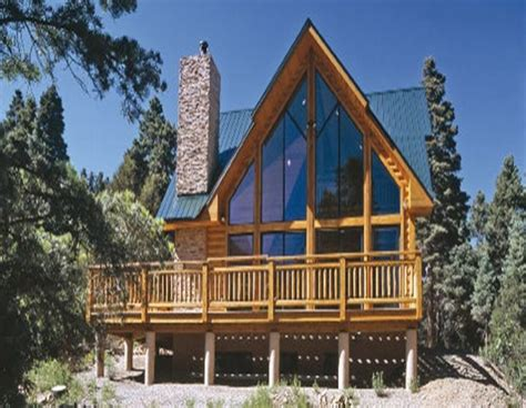 Log-Cabin-A-Frame-House-Plans