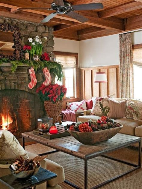 Log-Cabin-Christmas-Decorating-Ideas